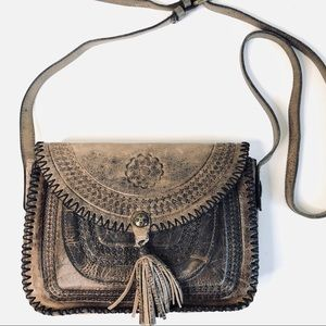 Patricia Nash Tooled Leather Crossbody Bag